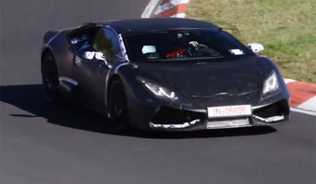 Watch the 2015 Lamborghini Cabrera Roaring at the Nurburgring!