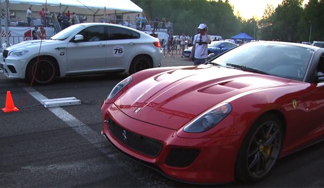 SUVs vs Ferrari 599 GTO. Who Wins?