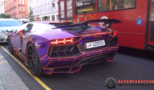 London's Aftermarket-Exhaust Equipped Lamborghini Aventadors