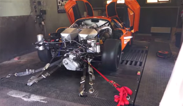 This is a 2,200+hp Saleen S7 on Pump Gas