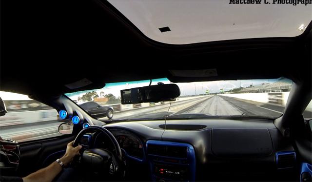 Chevrolet Camaro T-Top Flies Off During Drag Race!
