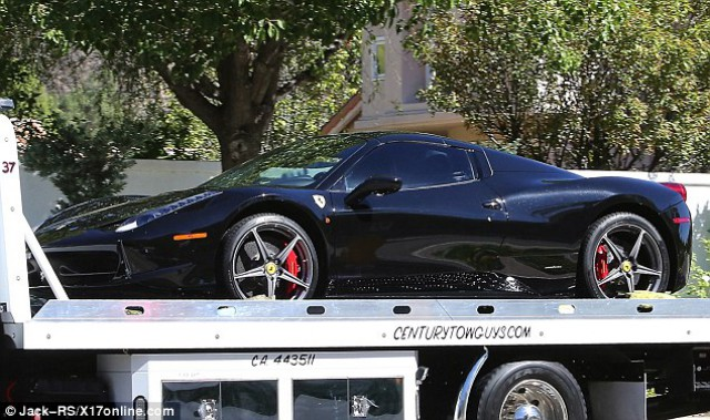 Justin Bieber Ferrari 458 Spider