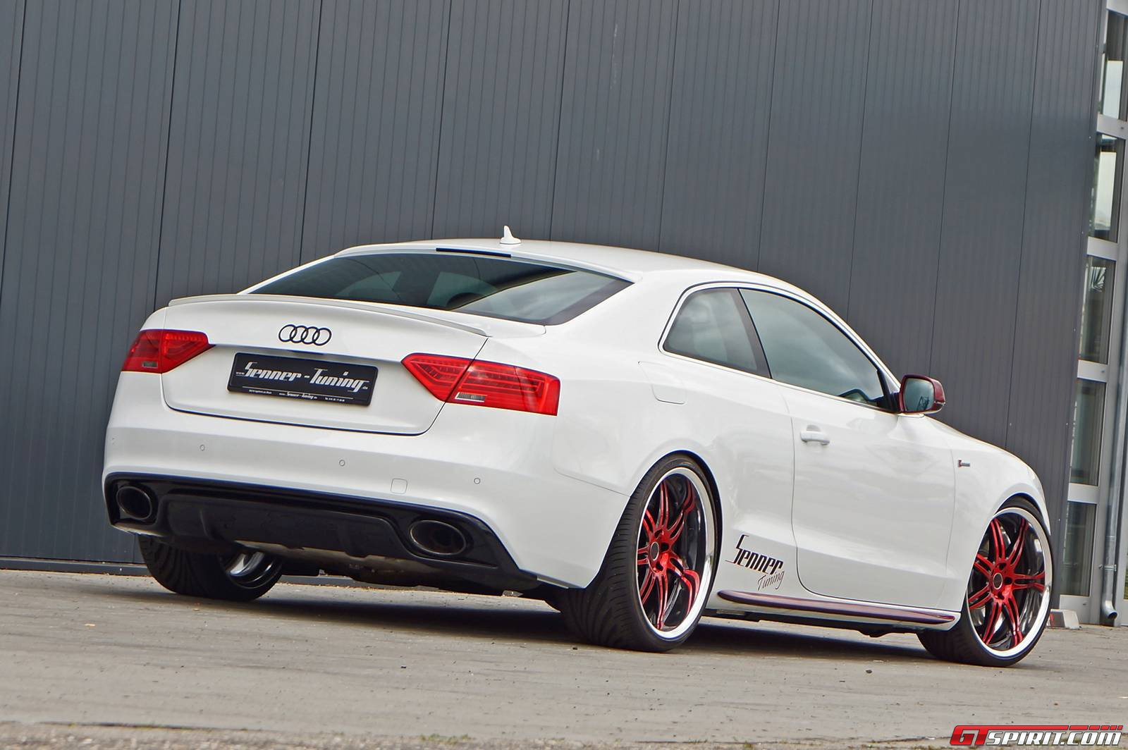 charming white audi s5 coupe by senner tuning gtspirit. Black Bedroom Furniture Sets. Home Design Ideas