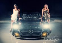 Sexy Models Meet the Mercedes-Benz SLS AMG by MEC Design
