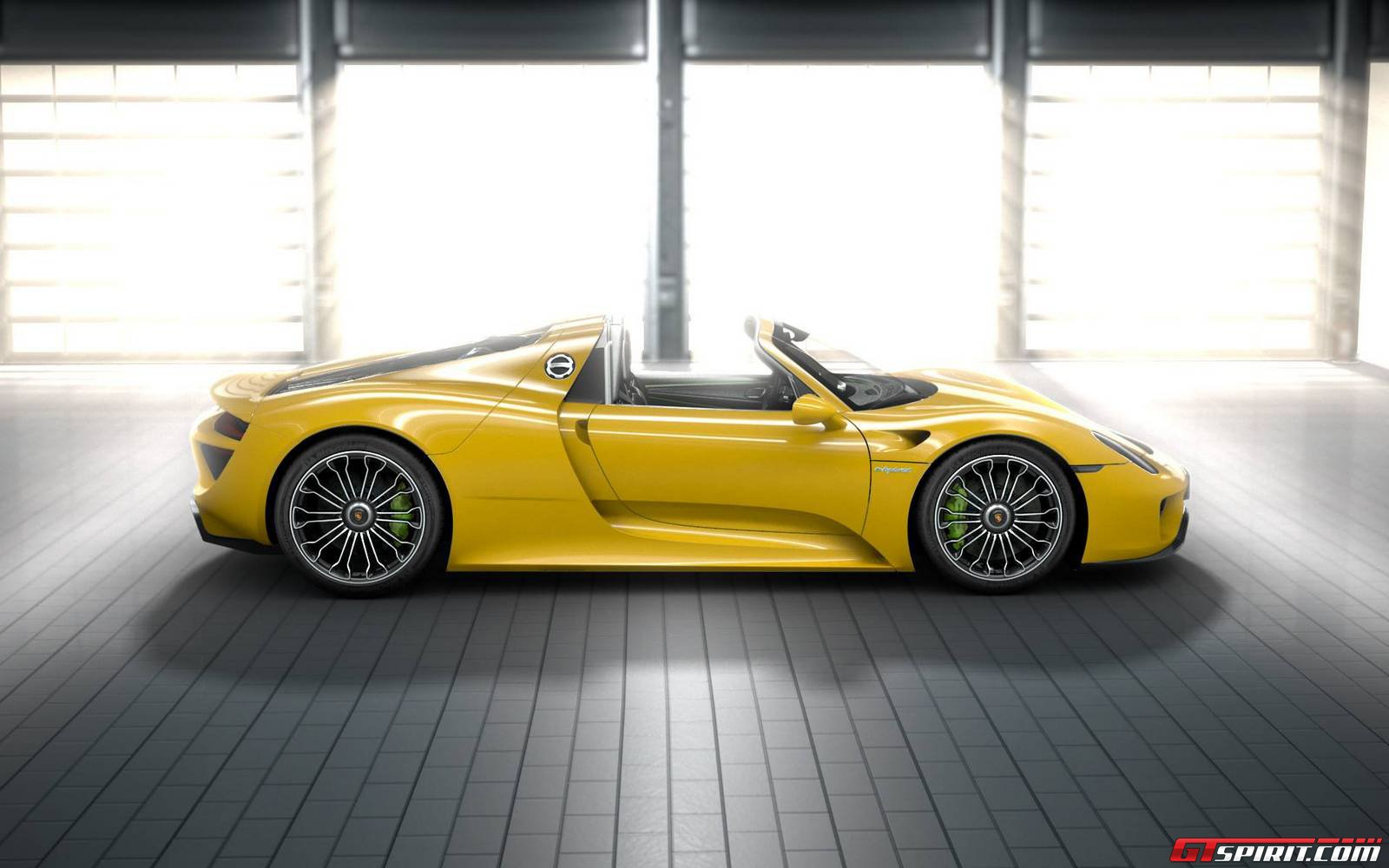 the porsche 918 spyder comes fitted with a mid mounted 46 litre v8 engine producing 608 bhp independently the highest specific power of any naturally - Porsche 918 Exterior