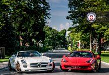 Mercedes-Benz SLS AMG and Ferrari 458 Italia on HRE Wheels