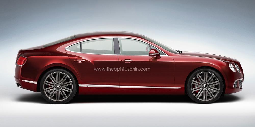 Four-Door Bentley Continental Coupe Rendered