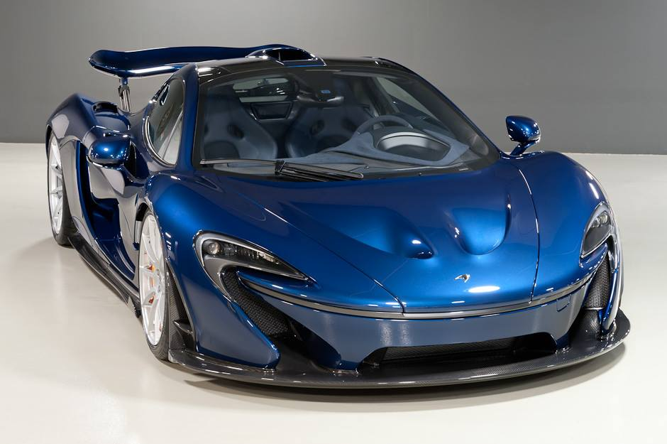 McLaren P1 in Genesis Blue Looks Stunning