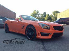 Mercedes-Benz SL63 AMG Receives Fiery Orange Wrap