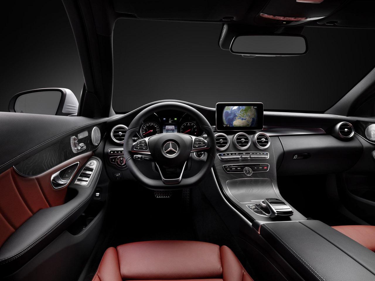2015 mercedes benz c class interior detailed car weighs. Black Bedroom Furniture Sets. Home Design Ideas