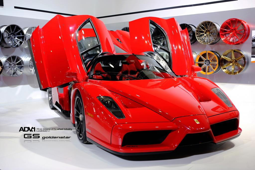 adv1 equipped ferrari enzo stuns at 2013 ciape show in china - Ferrari Enzo Black Rims