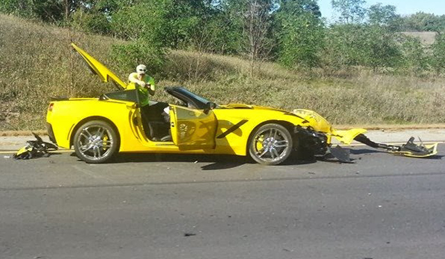 Well That Was Quick...First Customer 2014 Corvette Stingray Crash