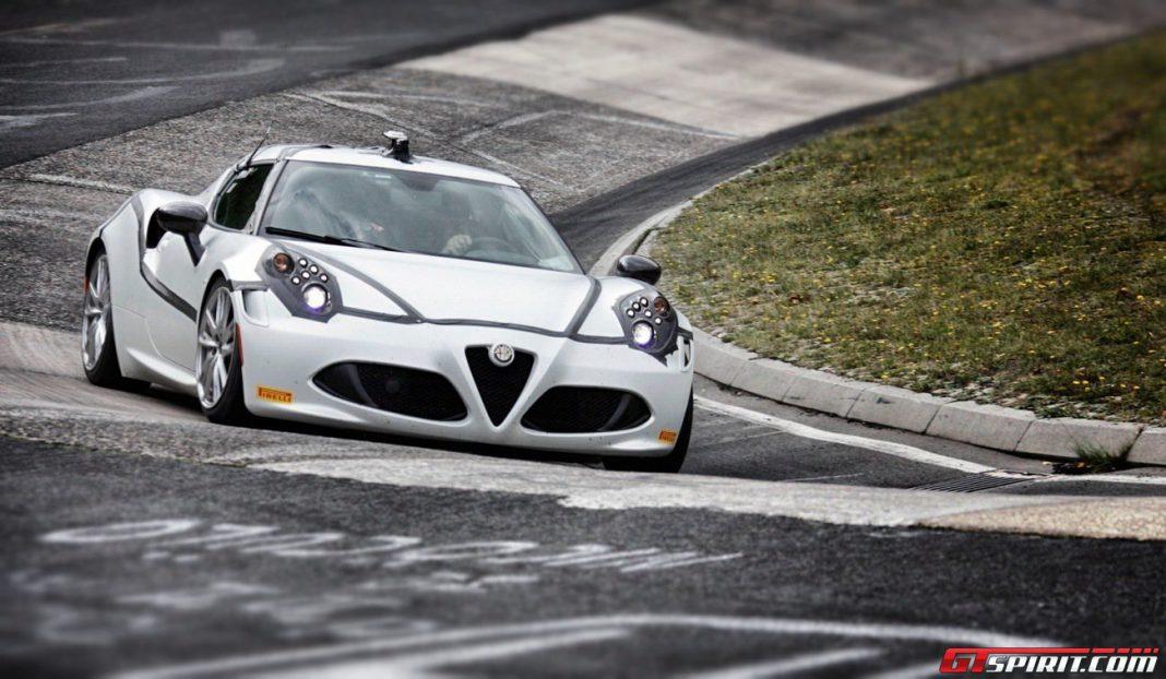 Highlights of the Alfa Romeo 4C's Nurburgring Lap