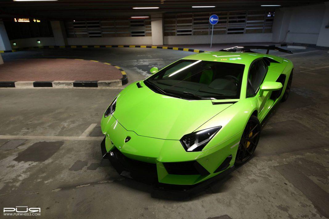 Epic Verde Ithaca Lamborghini Aventador on PUR Wheels