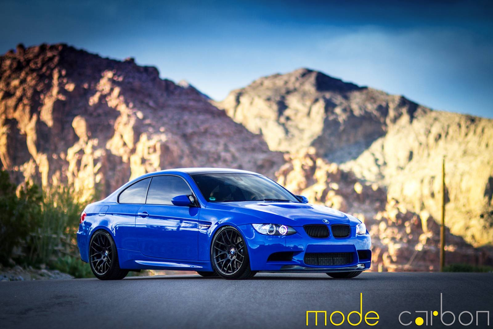 Santorini Blue Bmw E92 M3 By Mode Carbon Gtspirit