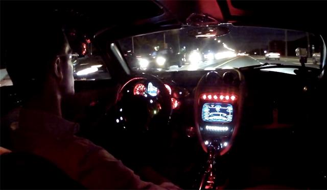 Driving the Pagani Huayra in Miami at Night