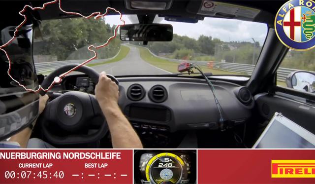 The Alfa Romeo 4C's Full Record-Setting Nurburgring Lap