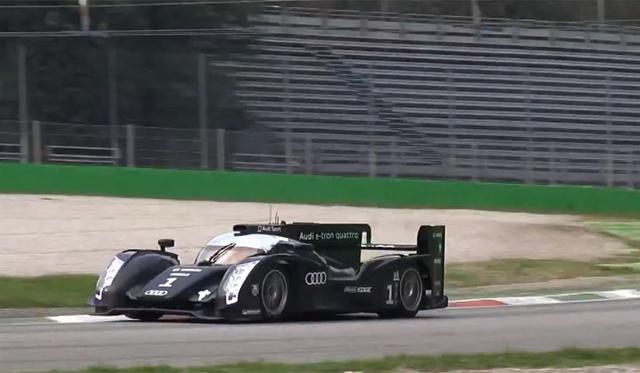 Audi R18 e-Tron Roars at Private Testing in Monza