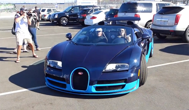 Kendall Jenner Drives Bugatti Veyron Grand Sport Vitesse