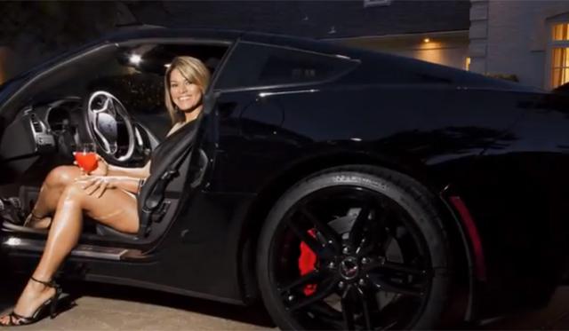 Hot Office Girl Drives 2014 Chevrolet Corvette Stingray Z51
