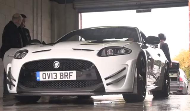 Chris Harris Slides the Jaguar XKR-S GT on Track