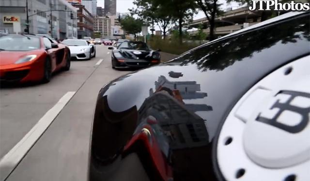 Bugatti Veyron Super Sport Pur Blanc and Ferrari F50 Speeding in the U.S.