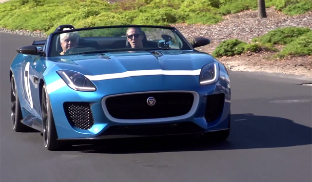 Jay Leno Drives Jaguar F-Type V8 S and F-Type Project 7