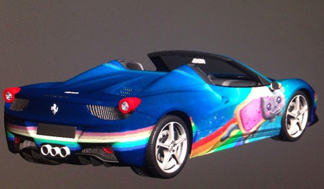 No Please No, Deadmau5 Considering Nyan Cat Ferrari 458 Spider Wrap