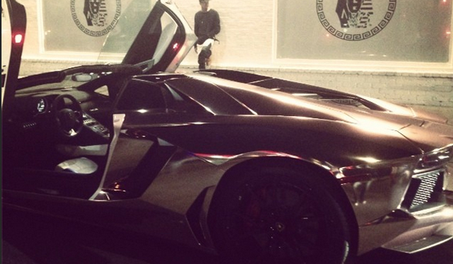 Tyga's Lamborghini Aventador Roadster Receives Rose-Gold Wrap