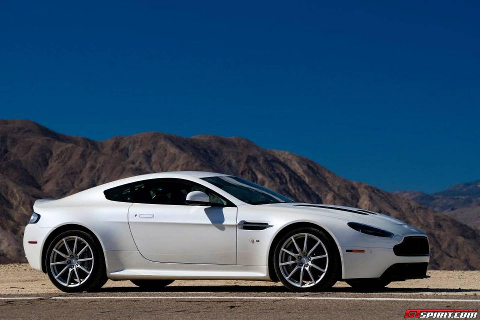 White Aston Martin V12 Vantage S In Palm Springs California Gtspirit