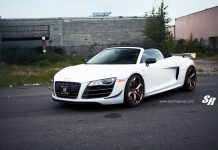 Audi R8 GT Rolling on PUR Wheels