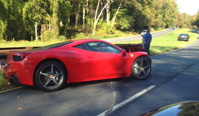 Ferrari 458 Italia Crashes In Washington DC