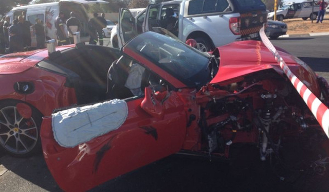 Ferrari California Wrecked in Johannesburg