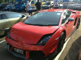 Lamborghini Gallardo LP570-4 Super Trofeo Stradale Crashes in China