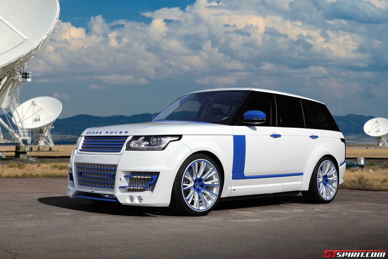 White Lumma Design Range Rover Vogue Clr R With Blue
