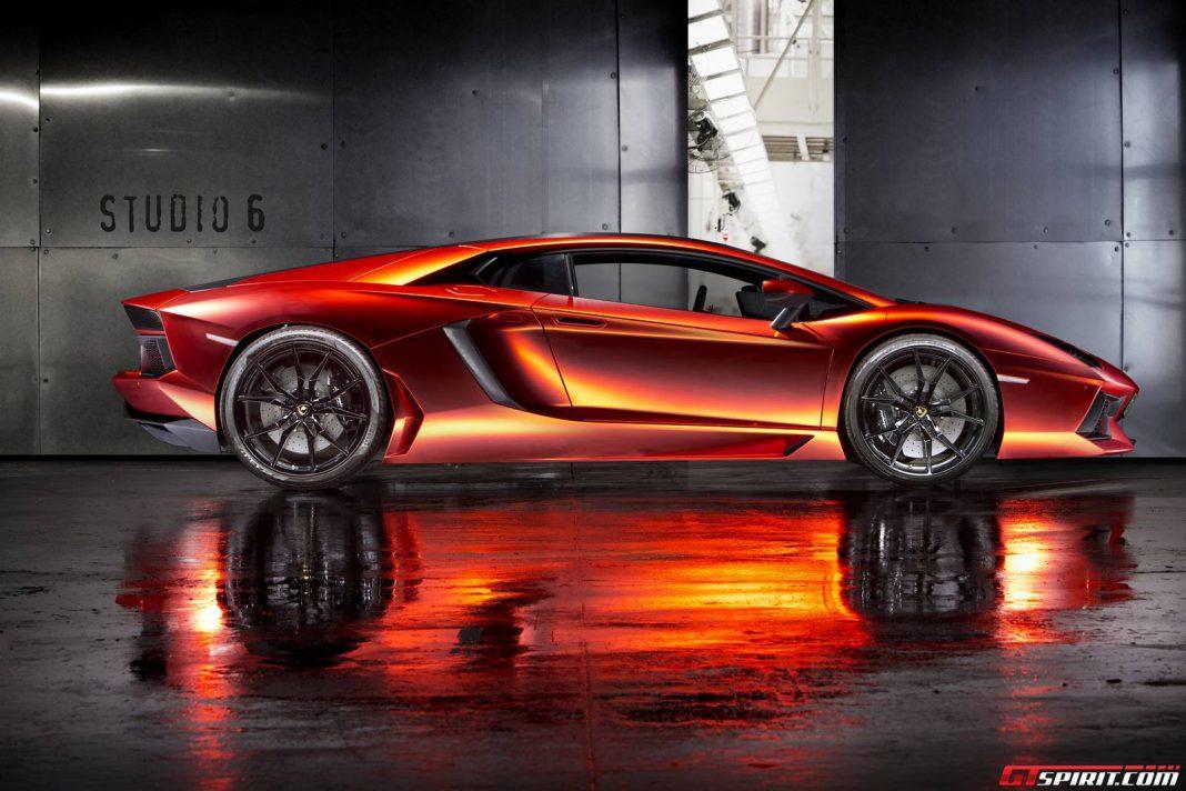 Orange Red Chrome Lamborghini Aventador By Print Tech