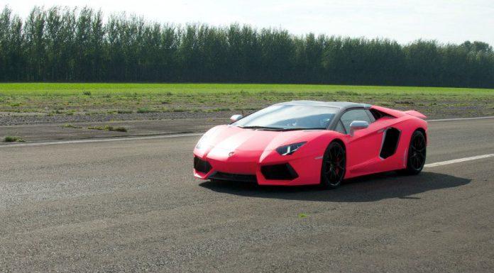 Watch Richard Hammond Take Sick Girl on Pink Aventador Roadster Ride