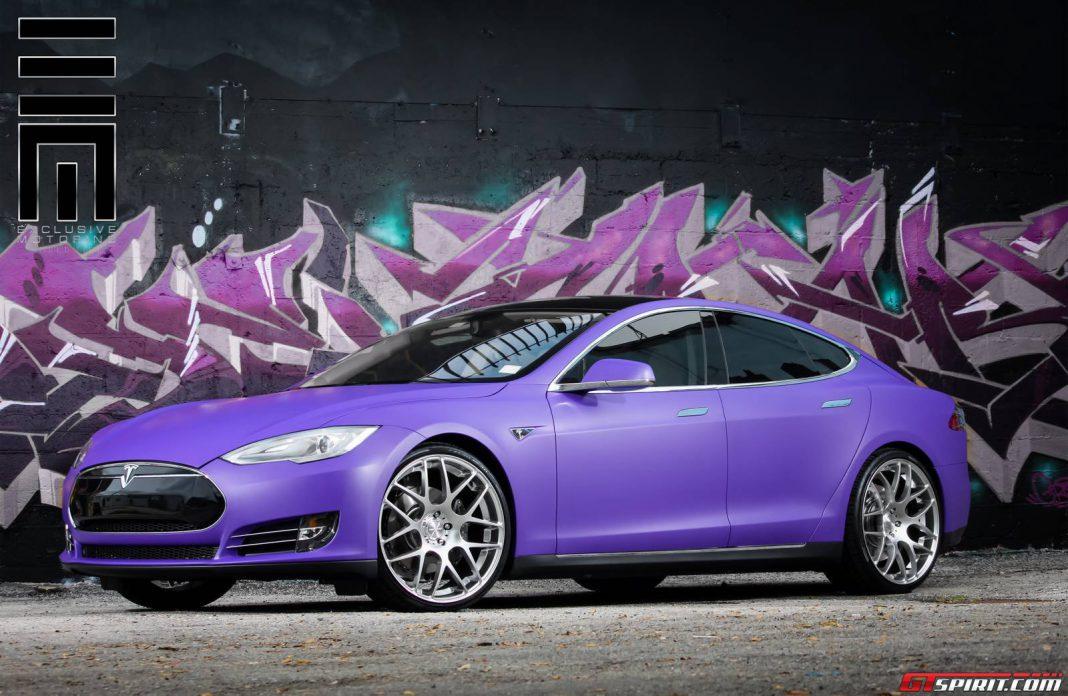 Tesla Model S with Avante Garde Wheels