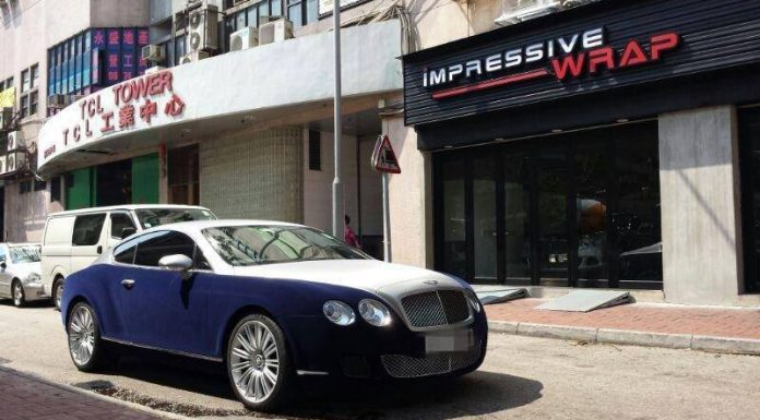 Bentley Continental GT Receives Velvet Blue Wrap