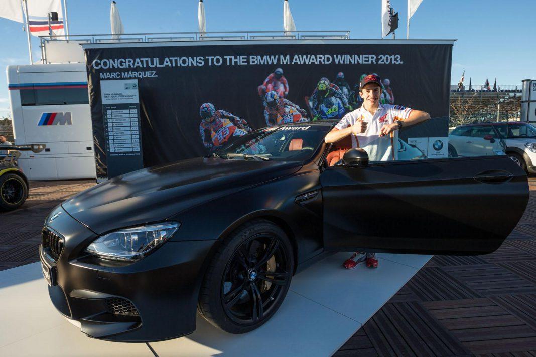 2013 MotoGP Champion Marc Marquez Awarded BMW M6 Coupe