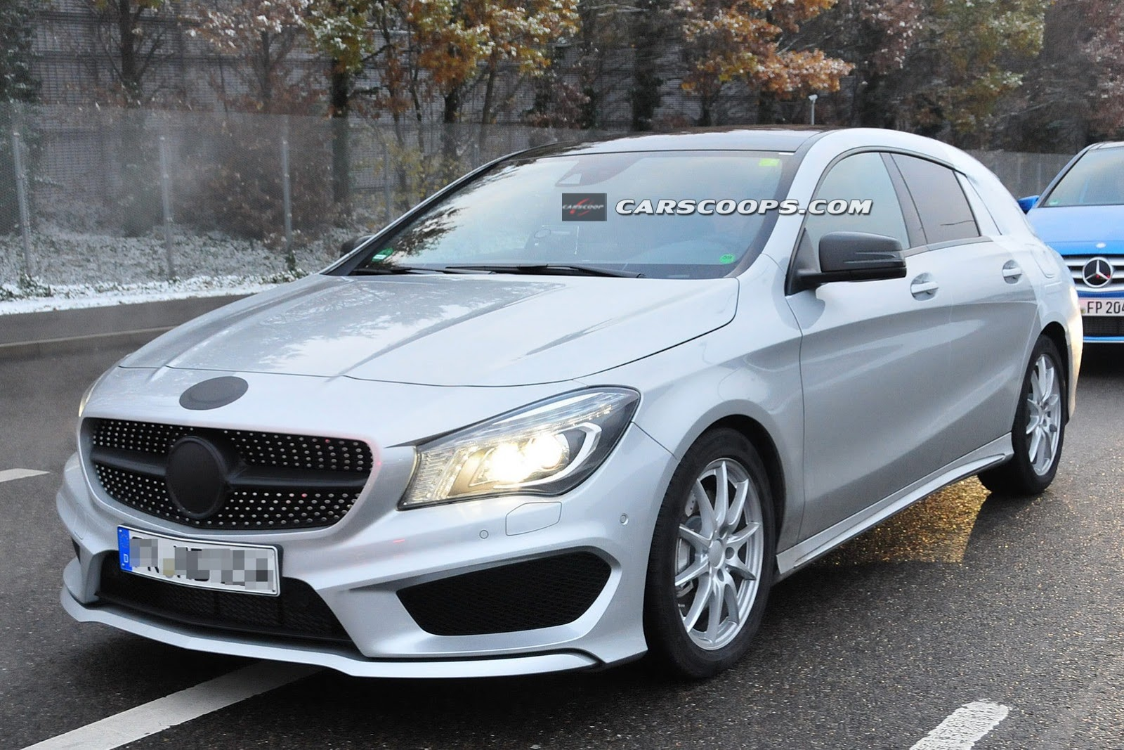 2015 mercedes benz cla shooting brake spied up close