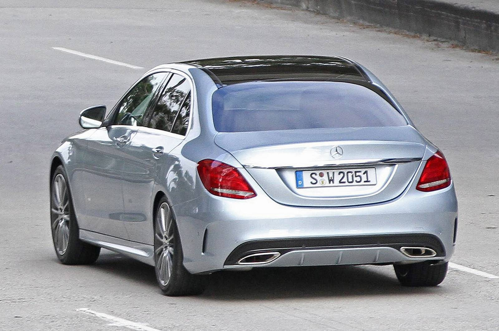 2015 mercedes benz c class spied uncovered gtspirit. Black Bedroom Furniture Sets. Home Design Ideas