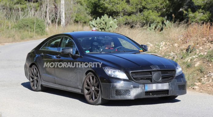 Facelifted Mercedes-Benz CLS63 AMG Spied