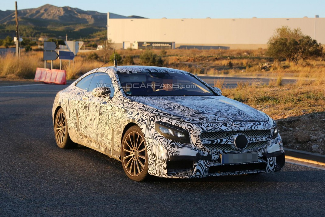 Mercedes-Benz S63 AMG Coupe Revealed More in Spyshots
