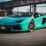 Gallery: Brand New Factory Colour Blu Glauco Lamborghini Aventador Roadster + ADV1 by Marcel Lech Photography