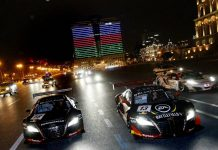 Baku World Challenge 2013: GT Racecars Street Parade at Night