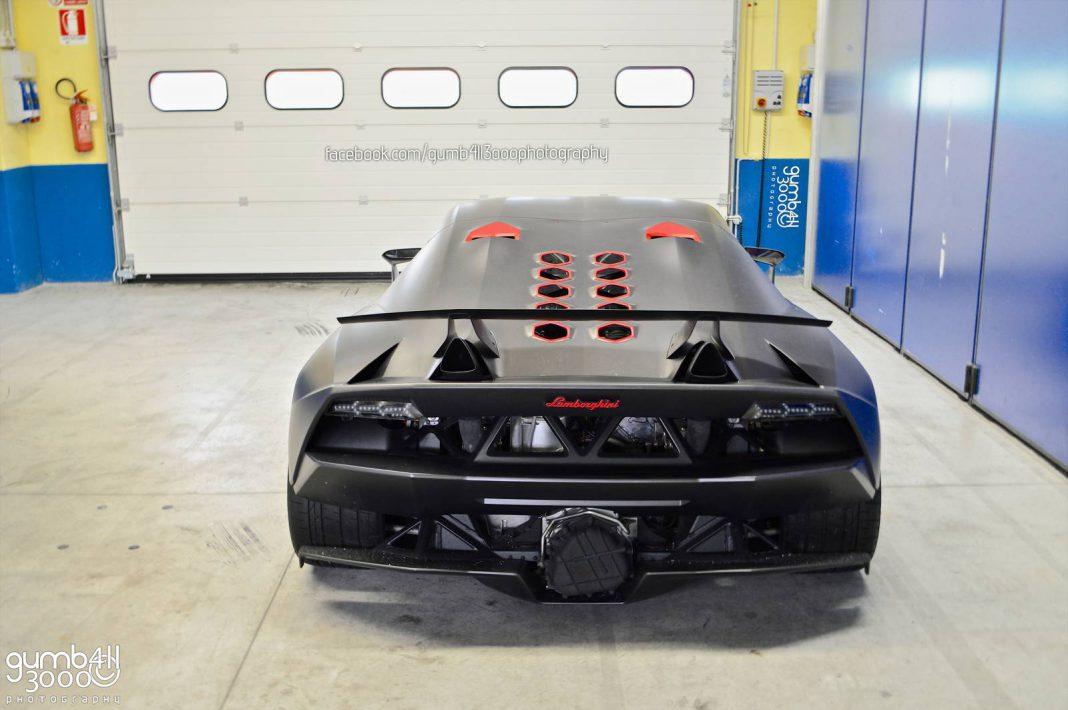 Lamborghini Sesto Elemento in Vallelunga Circuit Garage