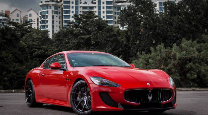 Maserati GranTurismo MC Stradale Lowered on HRE Wheels