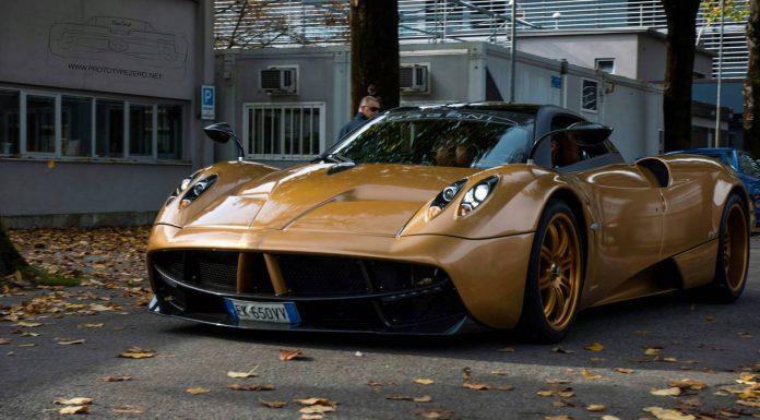 Pagani Huayra Gold Edition at the 6RDS 2013 in Monza