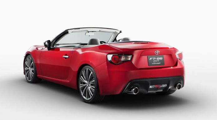 Red 2013 Toyota FT-86 Open Concept Previewed Ahead of Tokyo